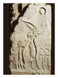 Akhenaten and His Family Offering to the Sun-God Aten Premium Giclee Print