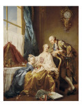 Group Portrait Giclee Print by Francois Hubert Drouais
