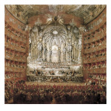 Concert Given by Cardinal De La Rochefoucauld at the Argentina Theatre in Rome Prints by Giovanni Paolo Pannini