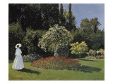 Woman in the Garden Kunstdruck von Claude Monet