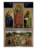 The Ghent Altarpiece or Adoration of the Mystic Lamb Posters by Hubert & Jan Van Eyck