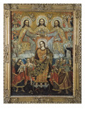 Coronation of the Virgin Gicl&#233;e-Druck von Gaspar Miguel de Berrio