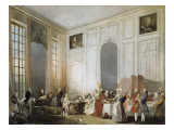The Young Mozart at the Clavichord at the House of Prince Conti Kunst af Michel Barthélémy Ollivier