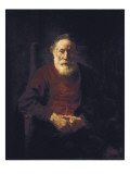 Old Man Seated Reproduction procédé giclée par Rembrandt van Rijn