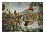 The Arrival of Roger De Flor in Constantinople Prints by José Moreno Carbonero