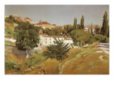 Landscape with the Convent of Santo Espiritu of Segovia Giclee Print by Aureliano De Beruete