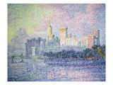 The Chateau Des Papesavignon Poster by Paul Signac
