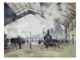 Arrival of the Normandy Train, Gare Saint-Lazare Premium Giclee Print by Claude Monet