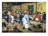 Peasant Wedding (Bauernhochzeit) Reproduction giclée Premium par Pieter Bruegel the Elder