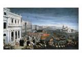 Riva Degli Schiavoni, Venice Giclee Print by Leandro Da Ponte Bassano