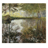 Pond at Montgeron Print by Claude Monet