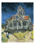 The Church at Auvers-Sur-Oise (L'Église D'Auvers-Sur-Oise, Vue Du Chevet) Art by Vincent van Gogh