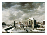 Amsterdam in Winter Giclee Print by Abraham Beerstraten