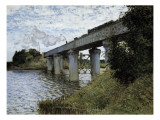 The Railway Bridge at Argenteuil Giclee Print by Claude Monet