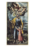 Saint Joseph and Child Jesus Prints by  El Greco