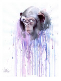 Monkey 7 Giclee Print by Lora Zombie