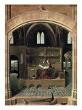 Saint Jerome in His Study Plakater af  Antonello da Messina