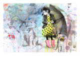 Rain Dog Reproduction proc&#233;d&#233; gicl&#233;e par Lora Zombie