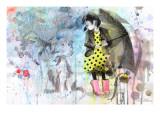Lora Zombie - Pes v dešti Umělecké plakáty