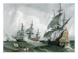 Spanish Galleons and Vessels (17th C) Giclee Print