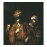 Haman Recognizes His Fate Prints by  Rembrandt van Rijn