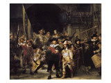 The Night Watch Gicledruk van Rembrandt van Rijn