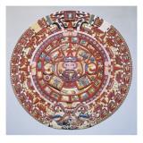 "Aztec Calendar (1479), also Named ""Piedra Del Sol"" (Solar Stone) or ""Tonalpohualli"" Prints"