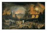 The Burning of Troy (Der Brand Trojas) Premium Giclee Print by Pieter Schoubroeck