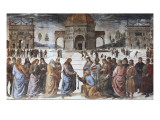 Christ Handing the Keys to St Poster by Pietro Perugino