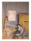 Forain in His Studio Affiches par Edouard Vuillard
