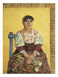 The Italian Woman Reproduction proc&#233;d&#233; gicl&#233;e par Vincent van Gogh