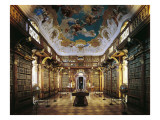 Melk Abbey, Library Prints by Jakob Prandtauer
