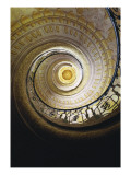 Melk Abbey, Spiral Staircase That Leads to the Church Giclee Print by Jakob Prandtauer