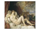 Danae Prints by  Titian (Tiziano Vecelli)