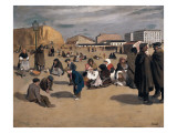 Scene in Madrid Giclee Print by Francisco Sancha Y Lengo