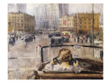 The New Moscow Giclee Print by Yuri Ivanovich Pimenov