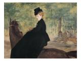 Portrait of Marie Lafebure on Horseback Print by Édouard Manet