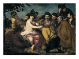 The Triumph of Bacchus or the Drunkards Giclee Print by Diego Velázquez