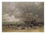 Return of the Terre-Neuvier (Retour Du Terre-Neuvas) Art by Eugène Boudin