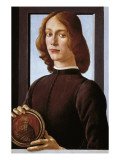 Portrait of a Young Man Prints by Sandro Botticelli