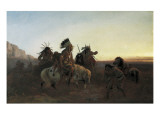 The Lost Trail Giclee Print by Charles Ferdinand Wimar