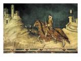 Equestrian Portrait of Guidoriccio Da Fogliano Kunst af Simone Martini