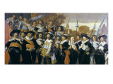 Officers and Sergeants of the St George Civic Guard Company Giclée-Druck von Frans Hals