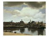 View on Delft Giclee Print by Jan Vermeer