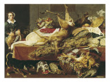 The Cook in the Pantry Premium Giclee Print by Frans Snyders