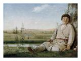 Sleeping Herd-Boy Poster by Aleksei Gavrilovich Venetsianov