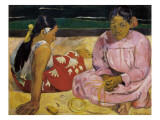 Women of Tahiti or on the Beach Giclee Print by Paul Gauguin