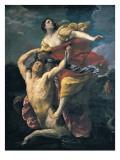 Delianira Abducted by the Centaur Nessus Kunstdrucke von Guido Reni
