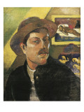 Self Portrait in a Hat Premium Giclee Print by Paul Gauguin