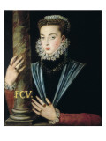 Portrait of Juana De Austria Print by Alonso Sanchez Coello